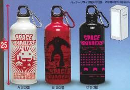 space invaders bottle