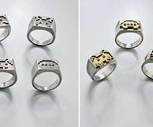 Space Invaders Rings Land on Your Fingers