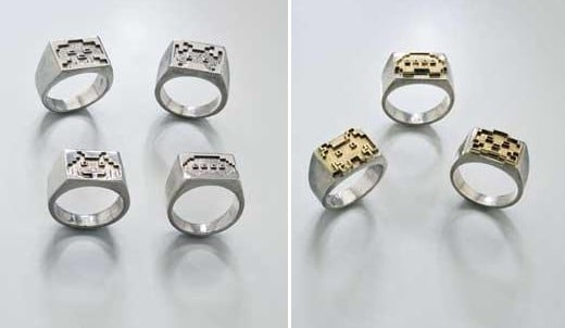 Space Invaders Rings by Toy Me