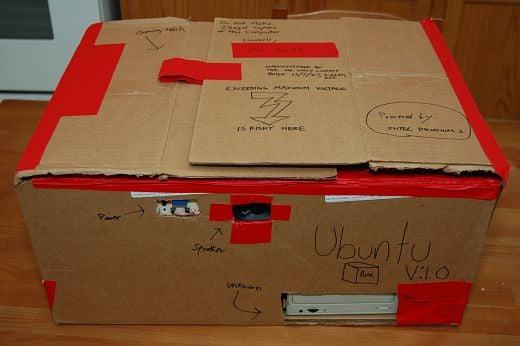 Ubuntubox Cardboard Casemod