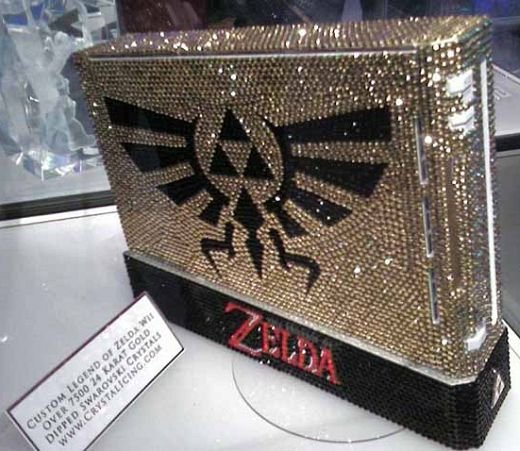 Crystal Covered Nintendo Wii