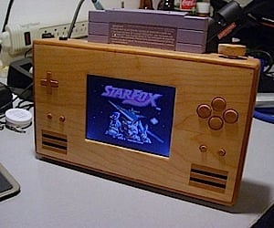 Super Nintendo Portable Wood Casemod
