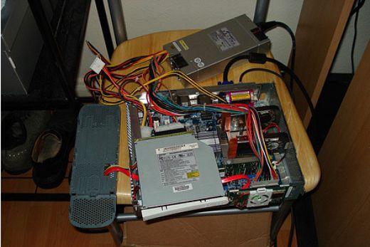 Xbox 360 PC Casemod Insides