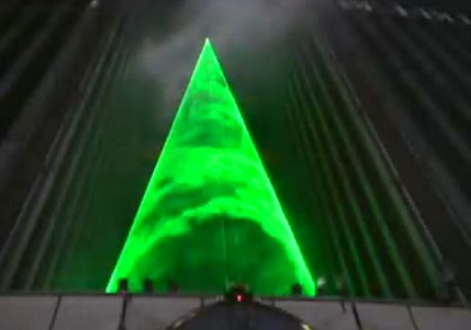 Laser Xmas Tree in Tokyo: No Need for Needles