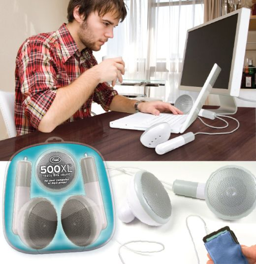 500xl giant earbud speakers by fred