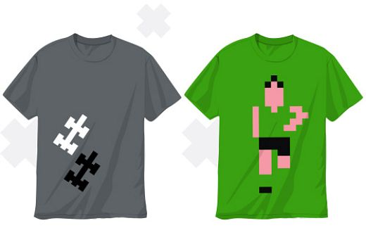 8-bit t-shirts by Stuart Witts