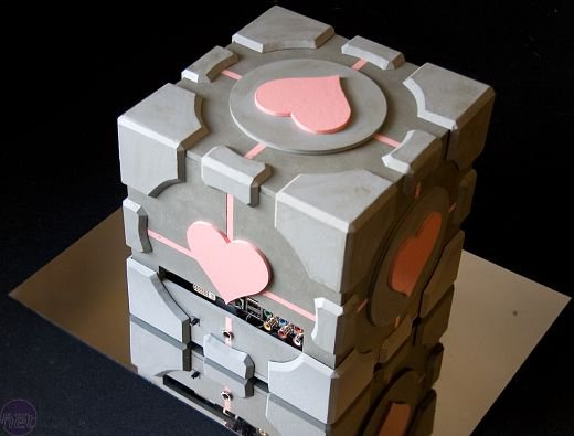 Portal Weighted Companion Cube PC Casemod