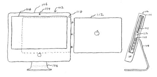 Apple Docking Cinema Display Patent Diagram
