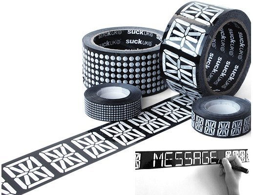 Message Tape Mimics Digital Displays