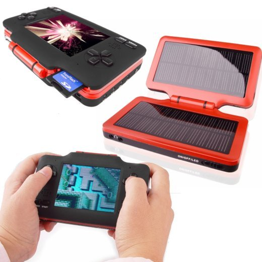 Handheld nintendo emulator goes solar technabob for Solar energy games