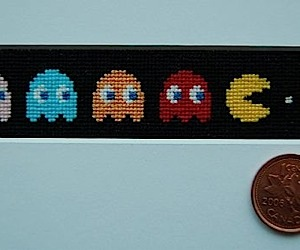 Pac-Man Gets Cross-Stitched, Tiny