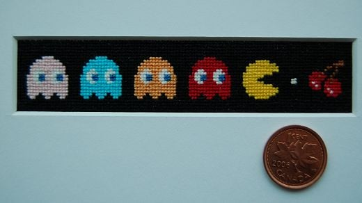 Pac-Man Cross Stitch