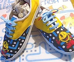 Pac-Man Sneakers (and a Pina Colada, My Friend)