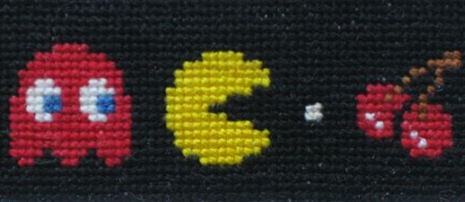 Pac-Man Cross Stitch by EverySpoon
