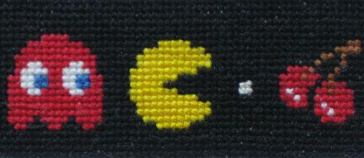 Pac-Man Cross Stitch by EverySpoon
