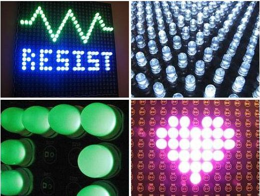 Your Message in Light Emitting Diodes