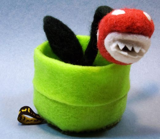 Mario Piranha Plant is Soft, Fuzzy, but Still has Teeth