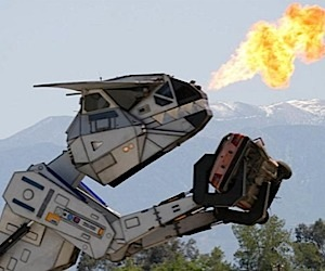 A Fire Breathing, Car Killing Robot of Your Very Own