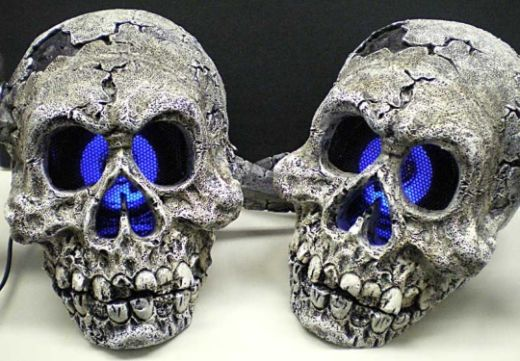 skull speakers led