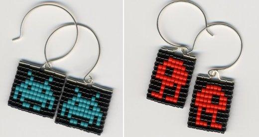 Space Invaders Earrings by pardalote
