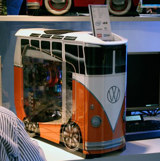 Vw Bus Computer Case for Hippies and Beach Bums