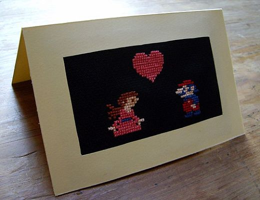 It's-a Me! Cross Stitch Mario!