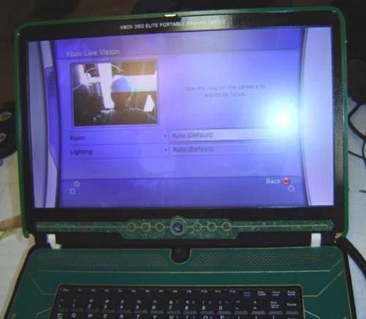 Xbox 360 Elite Laptop by Ben Heck