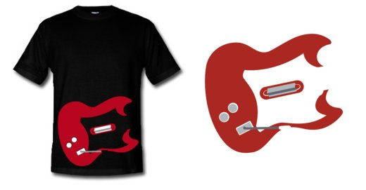 guitar hero t shirt