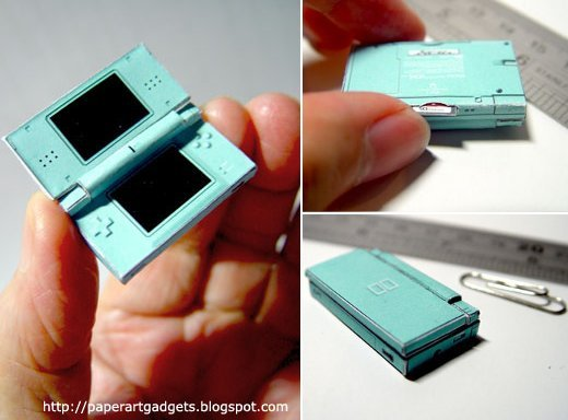 papercraft nintendo ds2