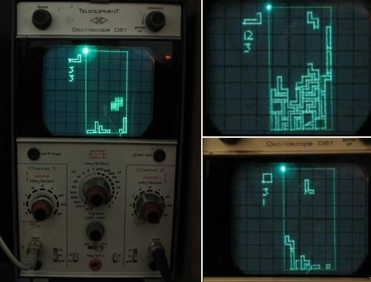 Scopetris Oscilloscope Tetris