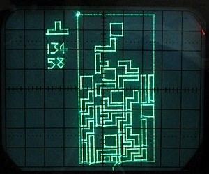 Tetris Blocks Fall on Oscilloscope Screen