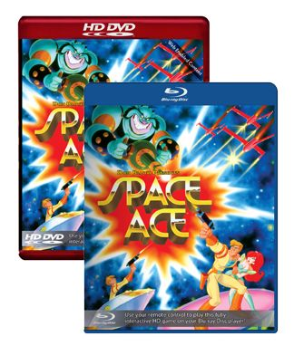 Space Ace Blu-ray and HD DVD
