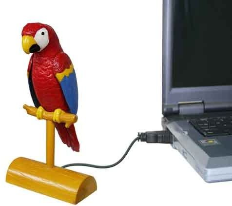 USB Parrot: Polly Wanna Laptop?