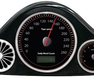USB Speedometer Gauges Wpm, Not Mph