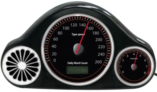 usb typing wpm speedometer