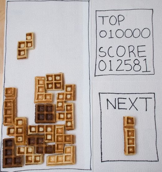 Tetris Waffles: How to Play With Your Food