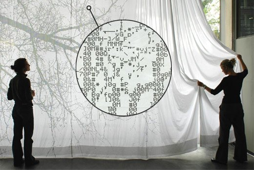 ASCII Curtain by Nienke Sybrandy
