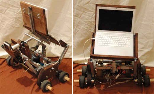 Gepetto AI Robot with MacBook