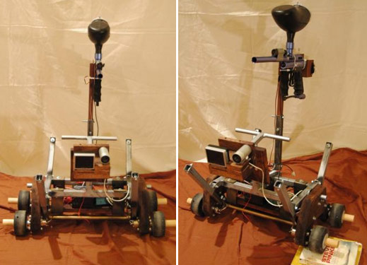 Robot Armed With Paintball Gun Chases Down Victims