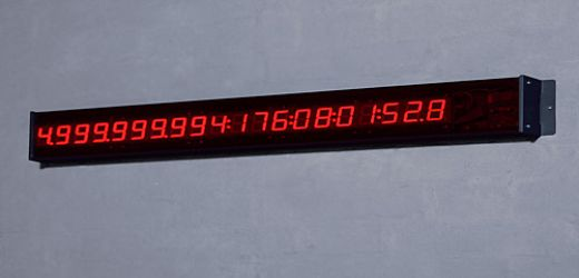Clock Counts Down to the End of the World