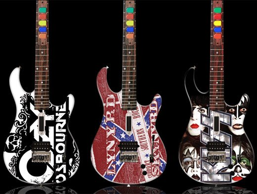 Guitar Hero Custom Wood Guitars Rock