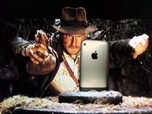 Indiana Jones iPhone by Travis Hammond