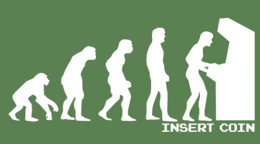 Insert Coin Evolution of Man T-Shirt