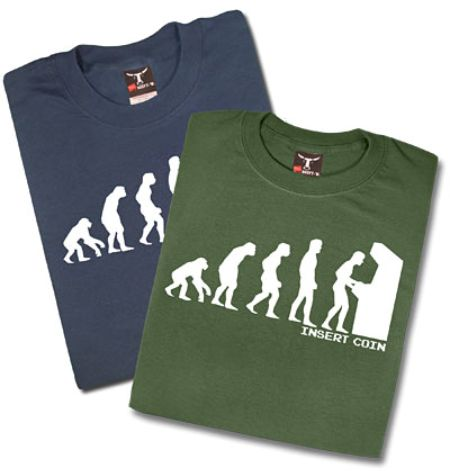 Evolution of Man T-Shirt is Stuck in the 80s