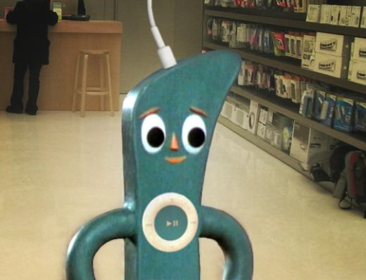 iPod Shuffle Gumby by Travis Hammond
