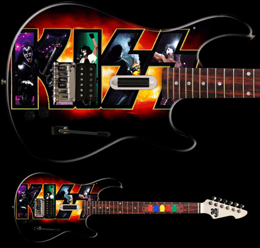 KISS Guitar Hero Art Guitars