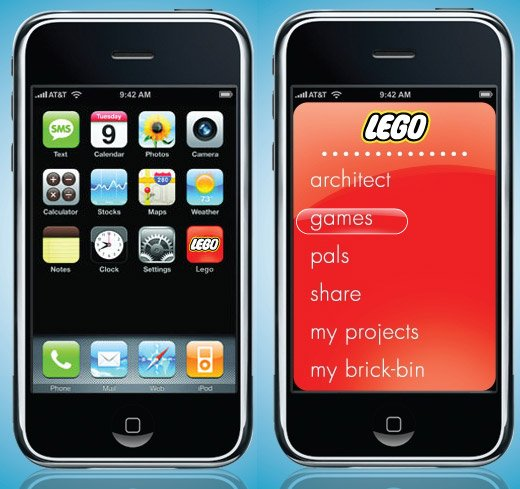 lego iphone menu