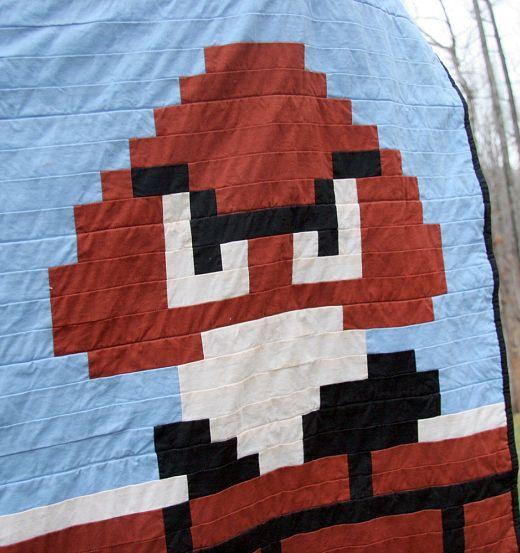 Super Mario Hidden Level Quilt