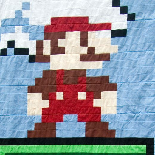 Super Mario Quilt