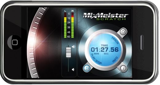 MixMeister Scratch DJ Interface for iPhone